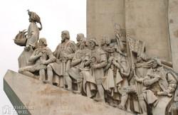 Lisszabon: a Felfedezők emlékművének nagy alakjai