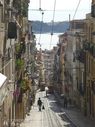lisszaboni utcakép