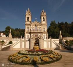 a Jó Jézus búcsújáró templom Braga mellett