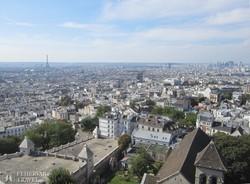 Párizs látképe a Montmartre-ról