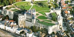 Amboise várkastélya madártávlatból