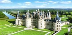 a megannyi apró tornyú, hatalmas Chambord-i kastély