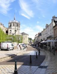 Amboise egyik sétálóutcája