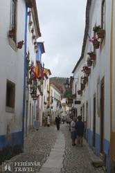 séta Óbidos utcáin