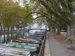 Annecy romantikus kikötője