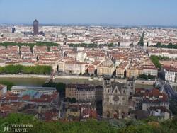 Lyon látképe a Fourvière bazilikától