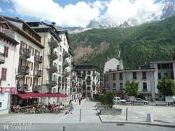 a szép fekvésű Chamonix
