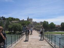 a Rhône partján fekvő Avignon