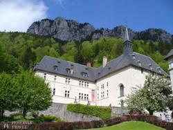 a hegyek között megbújó Grande Chartreuse kolostor