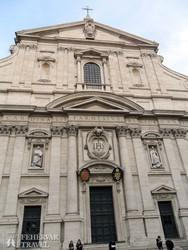Róma: a Gesú-templom homlokzata
