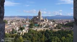 Segovia látképe az Alcázárból