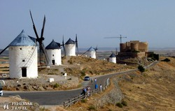 a La Mancha fennsík szélmalmai