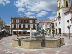 a szép főtér Ronda városában