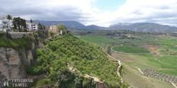 panoráma a Ronda környéki tájra
