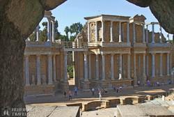 az ókori színház Méridában – részlet