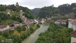 Fribourg: pillantás a középkori alsóvárosra