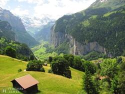 a Lauterbrunneni-völgy a Jungfrau környékén