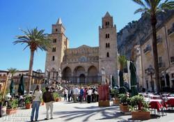 a normann-kori bazilika Cefalúban