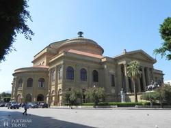 Palermo – a Teatro Massimo (a nagyszínház) épülete