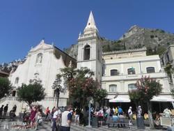 Taormina: a főtér egy részlete