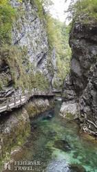 a vadregényes Vintgar-szurdok