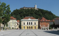 Ljubljana vára az óváros felett