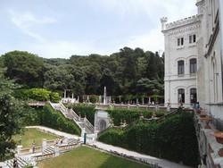 a Miramare kastély és parkja – részlet