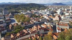 Ljubljana látképe a várból