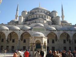 a Kék-mecset impozáns épülete Isztambulban