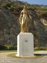 Mária szobor a Szűz Mária házához vezető úton