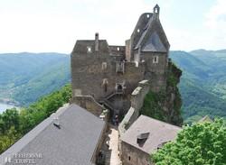 Aggstein középkori vára a Duna felett – részlet