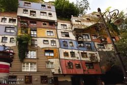 a Hundertwasser-ház Bécsben