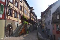 Meersburg ódon favázas házai