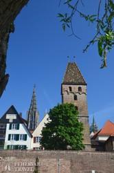 Ulm, háttérben a Münster tornya
