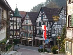 Schiltach favázas házai