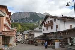 hangulatos utca Cortina d'Ampezzoban