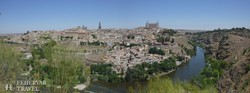 Toledo látképe az Alcázarral