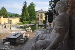 a Hellbrunni kastély mesés kertje