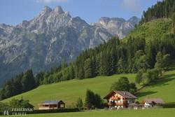 szépséges alpesi táj Salzburg környékén
