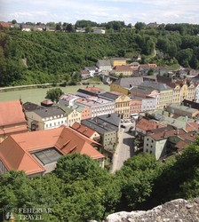 panoráma az óvárosra Burghausen várából