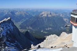 gyönyörű panoráma a Zugspitze-ről