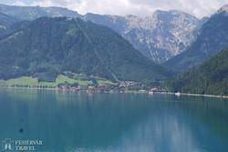 a hegyóriások között megbújó Achensee