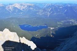 az Eibsee a Zugspitze felvonójából