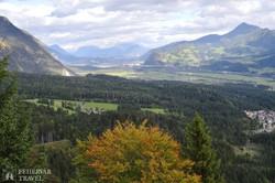 pillantás az Inn alpesi völgyére