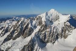 Új-Zéland legmagasabb csúcsai a helikopterről