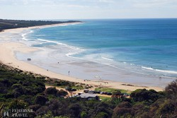 strand a Nagy Óceáni Út mentén