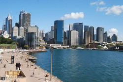 Sydney – a belváros az Operaház felől