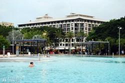 Cairns – a lagúna (egy közel futballpálya nagyságú tengervizes medence a kikötőnél)