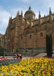 a gótikus-barokk salamancai katedrális