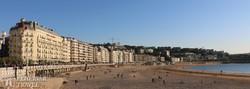 San Sebastian hangulatos tengerparti sétánya